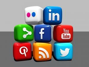 social media and marketing graphic